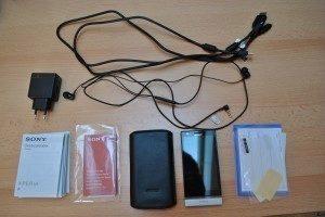 Sony Xperia P - obsah balení