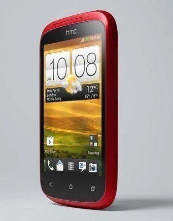 HTC Desire C cervena