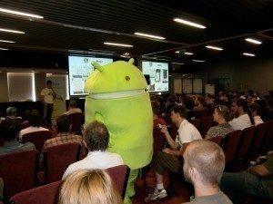 Přednášky maskot Android RoadShow 2012 Praha1