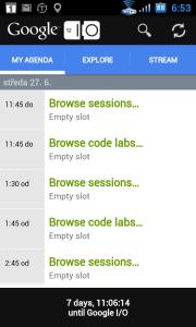 Aplikace Google I/O 2012