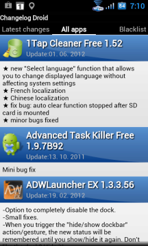 V sekci All apps jsou programy seřazené abecedně podle svého názvu.