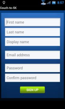 Registrace nevyžaduje zbytečné informace