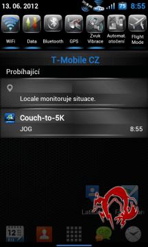 Do Couch-to-5K se můžete vrátit přes notifikační lištu