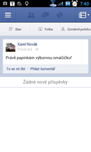 Facebook pro Android