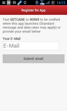 Chcete-li dostat informaci o nové aplikaci, stačí zadat e-mail