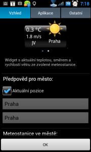 Nastavení vzhledu widgetu