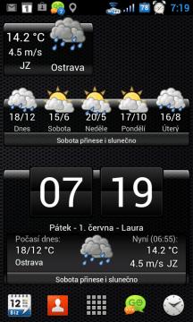 In-počasí nabízí sadu tří widgetů