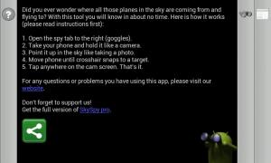 Instrukce k používání aplikace SkySpy