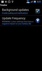 Nastavení automatické aktualizace