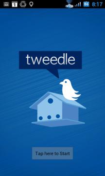 Úvodní obrazovka aplikace Tweedle