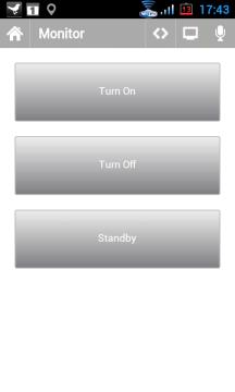 Ovladač Monitor dovoluje zhasnout a rozsvítit monitor, případně ho přepnout do úsporného režimu
