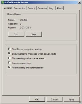 Základní nastavení Unified Remote