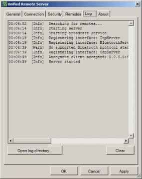 Provozní záznamy serveru