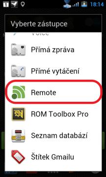 Zvolte Remote