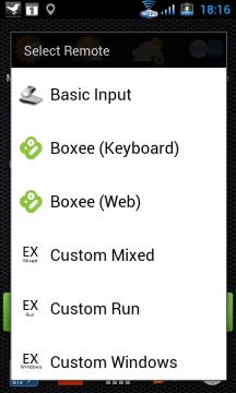 Vyberte ovladač, jehož ikonu chcete přidat