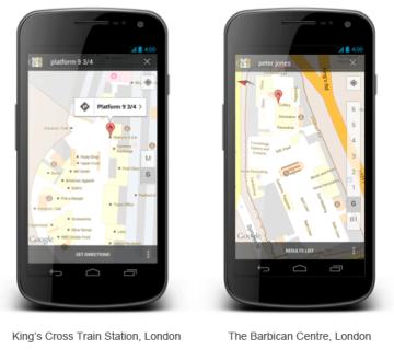Mapy Google fungují ve Velké Británii i v budovách
