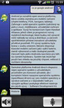 Obrazovka programu Antelli