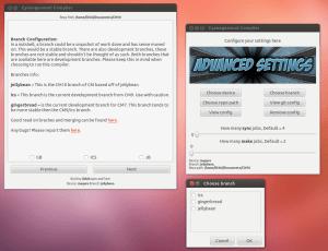CyanogenMod Compiler s grafickým rozhraním