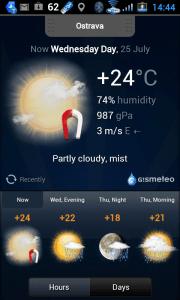 Aktuální meteorologická situace