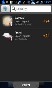 Sledovat můžete počasí na více místech najednou