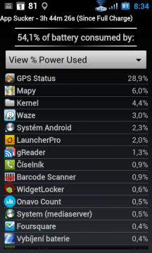 Jak aplikace zatěžují baterku
