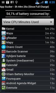 Kolik času procesoru aplikace požadovaly