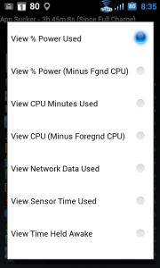 Celkem lze seznam aplikací seřadit podle devíti různých kritérií