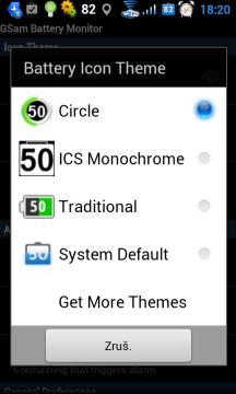 Ikona v notifikační liště může mít různé podoby