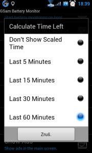 Kolik posledních minut má být bráno v úvahu