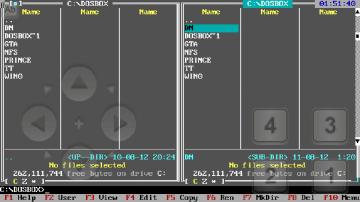 Dos Navigator 1.51 v aDosBoxu