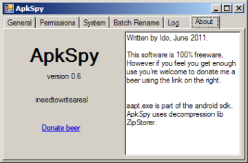 Informace o programu ApkSpy
