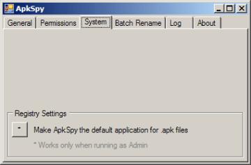 ApkSpy lze nastavit jako výchozí pro práci se soubory .apk
