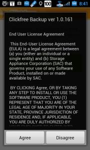 Při prvním spuštění se zobrazí licenční ujednání