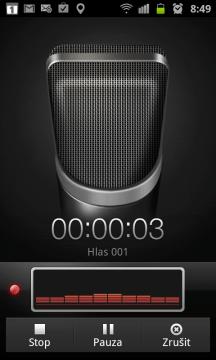 Diktafon pro záznam zvuku