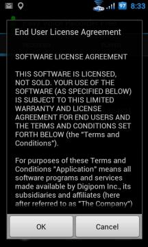 Nejprve musíte souhlasit s licenčním ujednáním