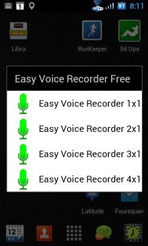 K dispozici jsou čtyři widgety
