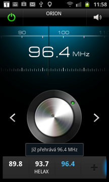 V základní výbavě nechybí rádio