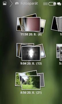 Fotky seskupené podle data