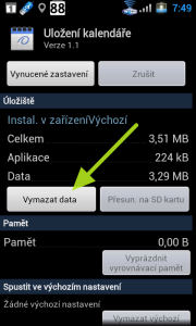 Vymazat data