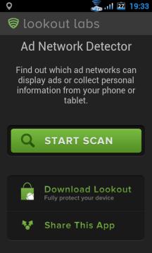 Zelené tlačítko Start scan slouží ke spuštění kontroly zařízení.