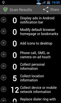 Seznam je roztříděn do osmi kategorií podle toho, jaké typy reklam mohou být zobrazovány, nebo jaké osobní údaje mohou reklamní systémy shromažďovat.