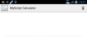 Prostředí aplikace MyScript Calculator