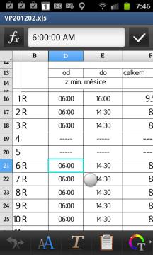 Editace tabulky