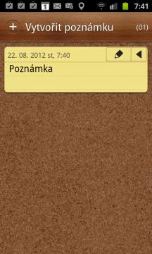 Správa jednoduchých textových zápisků