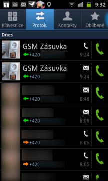 Záznamy o všech realizovaných i neuskutečněných voláních a přijatých/odeslaných SMS