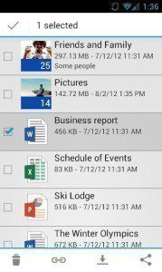 SkyDrive pro Android