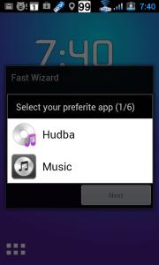 Výběr aplikace pro přehrávání hudby