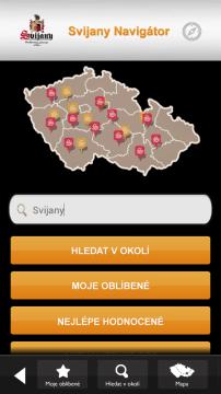 Úvodní obrazovka aplikace