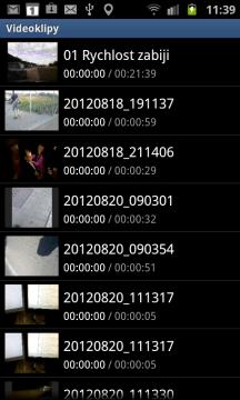 Aplikace Videoklipy