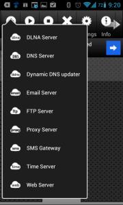 Tapneme na tlačítko Add, čímž se rozbalí nabídka se všemi typy serverů